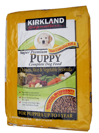 Kirkland puppy dog food