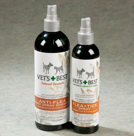 Vet's Best Natural Anti-flea Easy Spray Shampoo