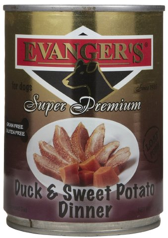 EVANGER'S 776135 12-Pack Gold Sp Grain Free Duck and Sweet Potato Dinner for Dogs